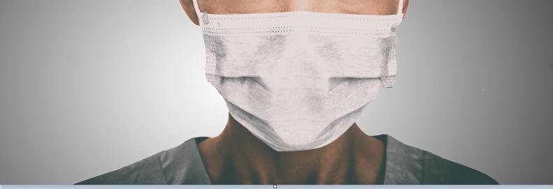 COVID-19 person in mask